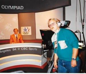 Dad at LA Olympics